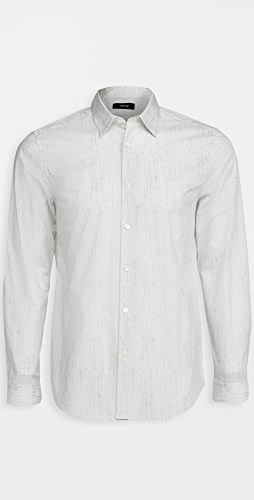 Theory - Irving Pixelate Print Shirt