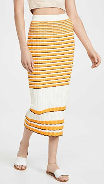 Theory 非常规罗纹半身裙