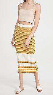 Theory Irregular Rib Skirt