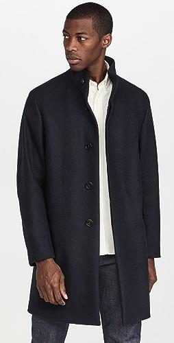Theory - Belvin Sp Modus Melton Wool Blend Coat