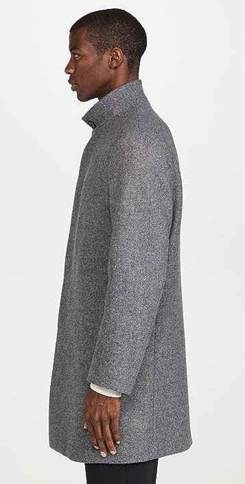 Theory Belvin Twist Wool Overcoat
