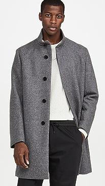 띠어리 벨빈 오버코트 Theory Belvin Twist Wool Overcoat,Pestle Multi