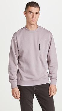띠어리 스웨터 Theory Colts Crew Tech Sweater,Dusty Orchid