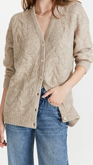 Theory Alpaca Cable Knit Cardigan