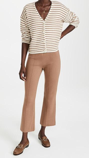 Theory Stripe Box Cashmere Cardigan