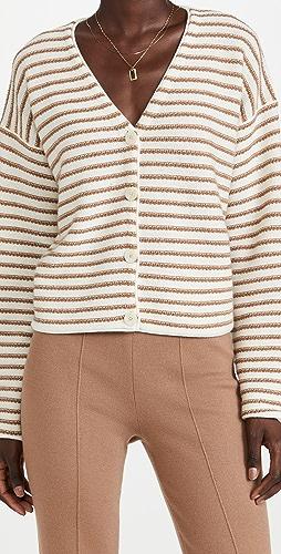 Theory - Stripe Box Cashmere Cardigan