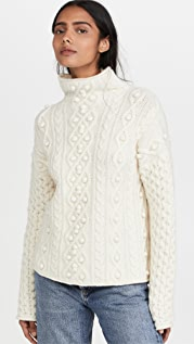 Theory Mixed Cable Pullover Sweater