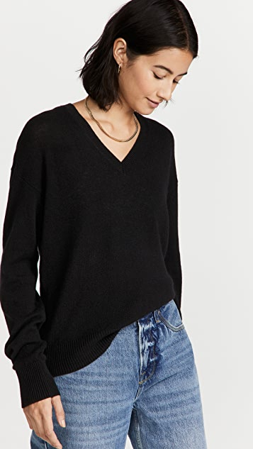 Theory Easy Pullover Cashmere Sweater