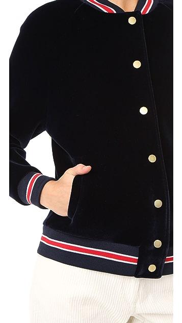 Hilfiger Collection Scuba Varsity Bomber Jacket