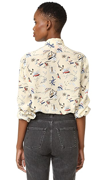 Hilfiger Collection Scarf Neck Blouse