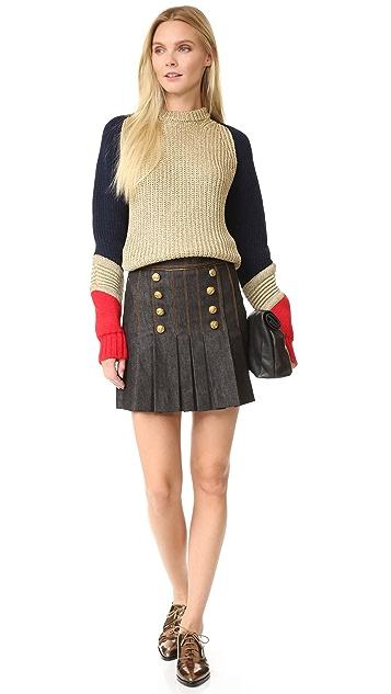 Hilfiger Collection Marine Mini Skirt