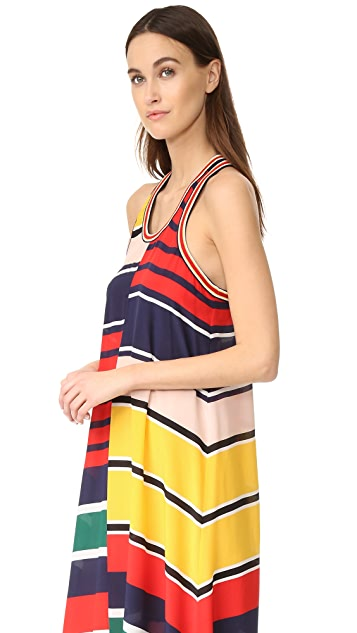 Hilfiger Collection Rugby Stripe Racer Back Maxi Dress