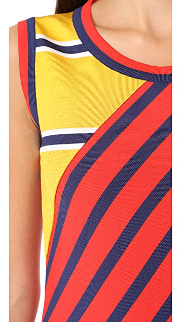 Hilfiger Collection Colorblock Stripe Dress