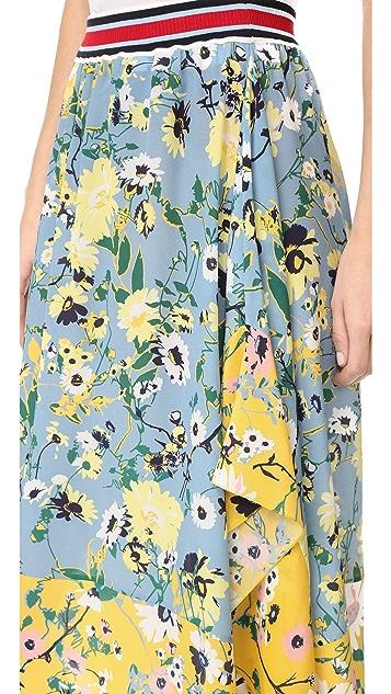 Hilfiger Collection Patchwork Floral Midi Skirt