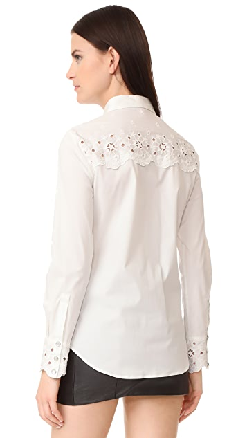 Hilfiger Collection Eyelet Long Sleeve Shirt