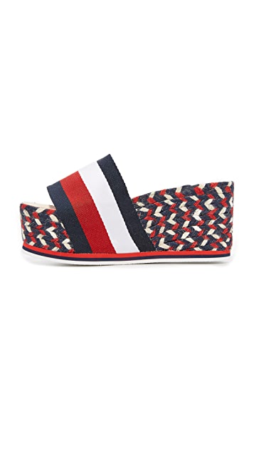 Hilfiger Collection Corporate Wedge Espadrilles