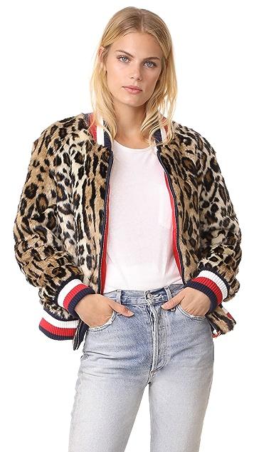 Hilfiger Collection Leopard Faux Fur Short Jacket - Brown Sugar