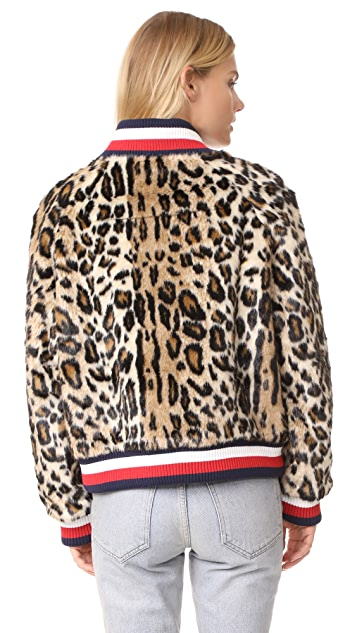 Hilfiger Collection Leopard Faux Fur Short Jacket