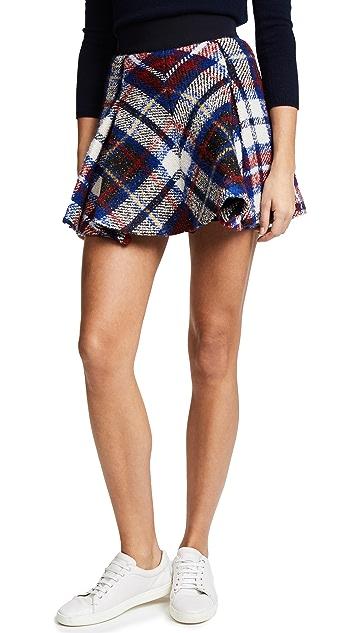 Hilfiger Collection Tartan Box Pleated Skirt