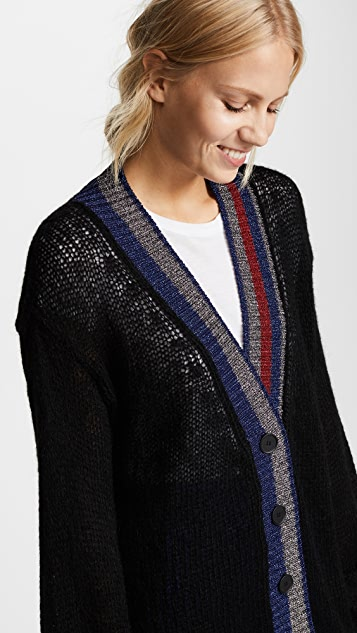 Hilfiger Collection Mohair & Metallic Cardigan
