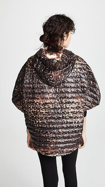 Think Royln Leopard Poncho