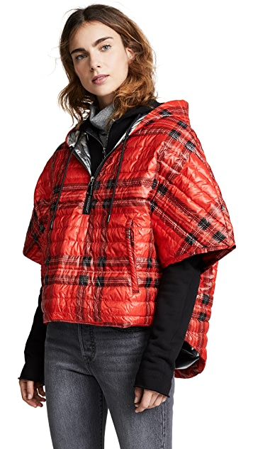 Think Royln Soho Plaid Poncho