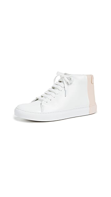 THEY NEW YORK Two Tone Mid Sneakers