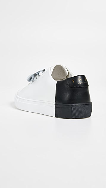 THEY NEW YORK Two Tone Low Sneakers with Metal Accent