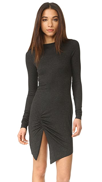 The Range Long Sleeve Slit Dress