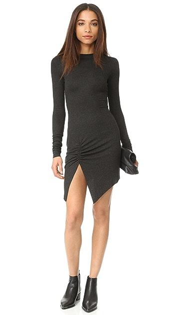 The Range Long Sleeve Slit Dress