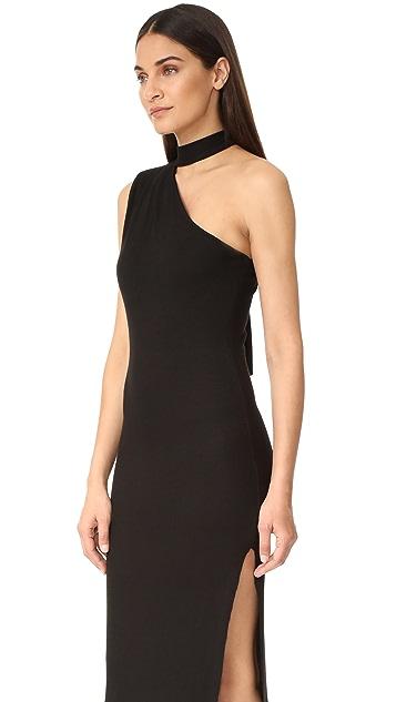 The Range One Shoulder Collar Slit Dress