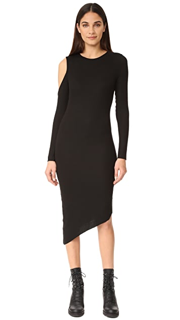 The Range Cold Shoulder Slit Dress