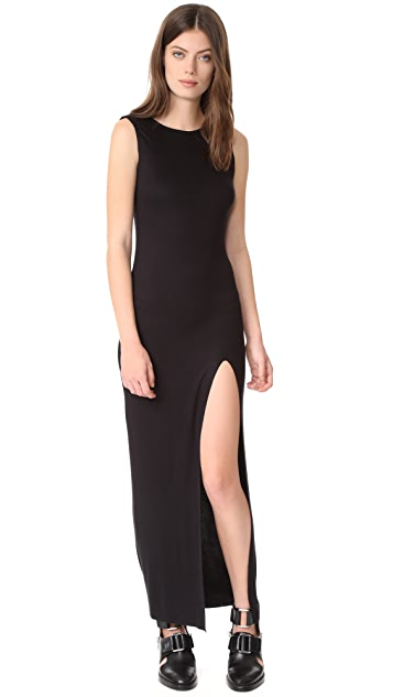 The Range High Slit Muscle Maxi Dress
