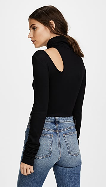 The Range Turtleneck Top with Cutout