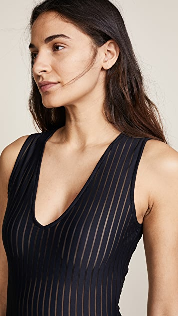 The Range Broken Stripe Bodysuit