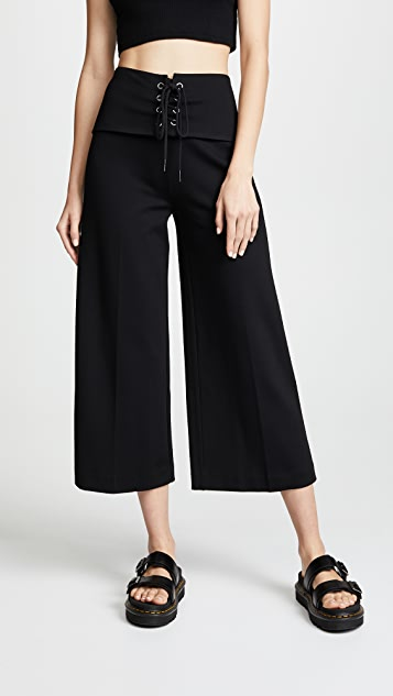 The Range Corset Crop Pants - Black