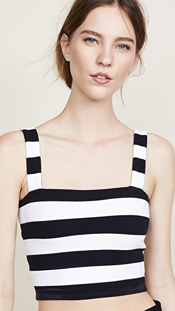 The Range Jailhouse Stripe Crop Top