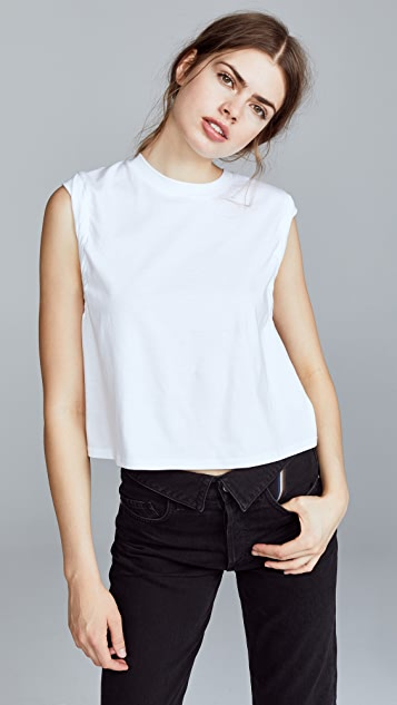 The Range Stark Cropped Muscle Tee