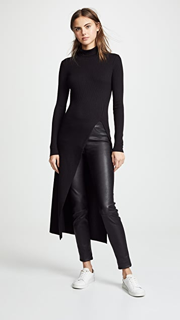 The Range Alloy Rib High Slit Tunic