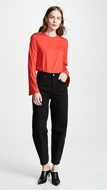 The Range Stark Jersey Flare Sleeve Top