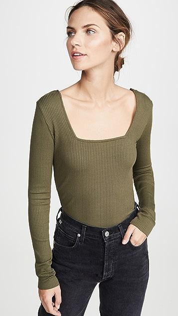 The Range Рубашка Alloy с окаймленными длинными рукавами