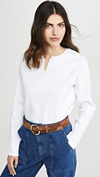 Vital Rib Slashed Long Sleeve Sweater