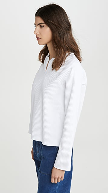 The Range Vital Rib Slashed Long Sleeve Sweater