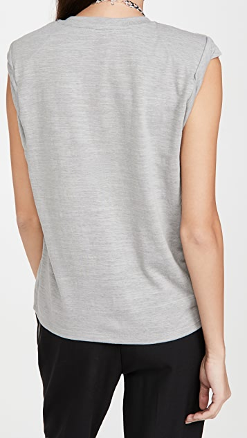 The Range Strata Slub Jersey Shoulder Pad Muscle Tee
