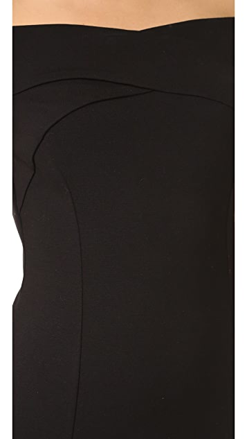 Three Dots Off Shoulder Bandage Dress