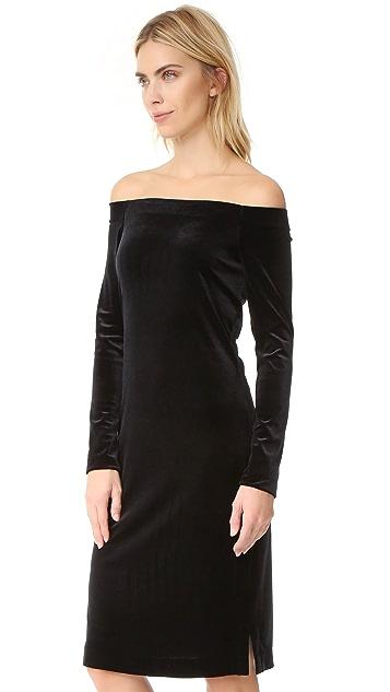 Three Dots Velour Dress