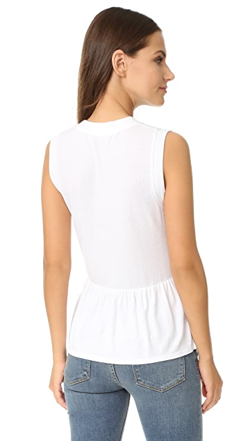 Three Dots Sleeveless Peplum Top
