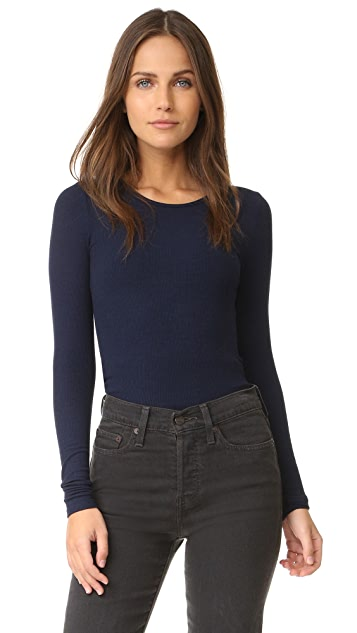 Three Dots Long Sleeve Tee