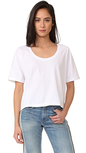 Three Dots Boxy Tee - White