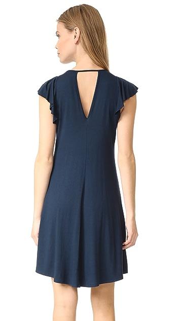 Three Dots Easy Flounce Dress